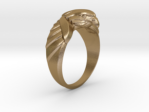 Eagle Ring 17mm in Polished Gold Steel