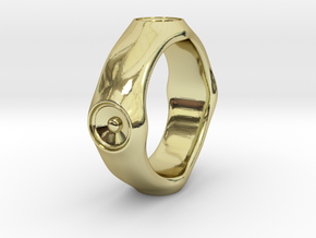 Dizzy Lizzy - Ring - US 9 - 19 mm inside diameter in 18k Gold Plated Brass