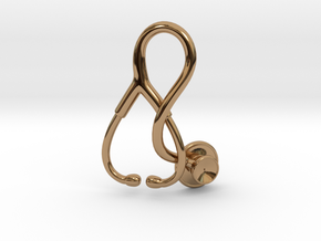 Stethoscope Pendant in Polished Brass