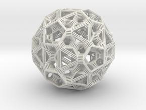 Sphere 6 in White Natural Versatile Plastic