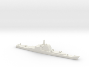 Long Beach Refitted with Aegis, 1/1800 in White Natural Versatile Plastic