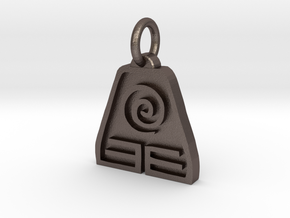 Avatar Earth Pendant in Polished Bronzed Silver Steel