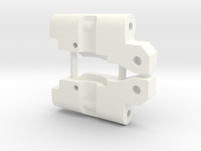 '91 Worlds Conversion - Rear Arm 3-2 Mounts in White Processed Versatile Plastic