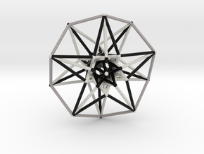 5D Hypercube Sacred Geometry B&W lg in Full Color Sandstone