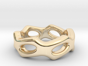 Fantasy Ring 31 - Italian Size 31 in 14k Gold Plated Brass