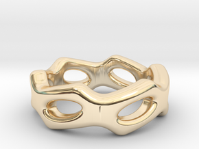 Fantasy Ring 33 - Italian Size 33 in 14k Gold Plated Brass