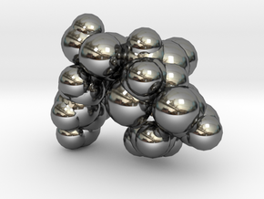 amoxicillin_space_fill in Fine Detail Polished Silver