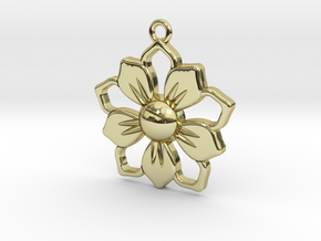 Pendant_01 in 18k Gold Plated Brass