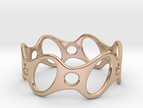 Fantasy Bracelet 75 in 14k Rose Gold Plated Brass