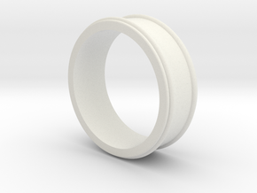 Customizable Ring_01 in White Natural Versatile Plastic