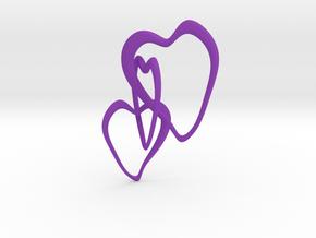 Trinity Hearts  in Purple Processed Versatile Plastic