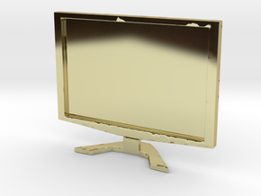 """Acer 22"""" LCD - 1:12 scale in 18K Gold Plated"""