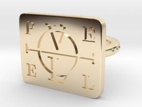 Enochian Adjustable in 14k Gold Plated Brass