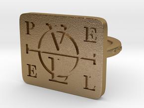 Enochian Adjustable in Polished Gold Steel