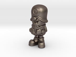 SmileCappy FullColor in Polished Bronzed Silver Steel