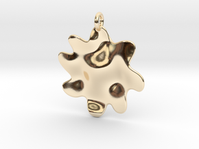 Splash2 Customizable in 14k Gold Plated Brass