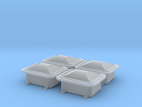 """Enclosure 13x10"""" domed cover 4pcs, 1/18 scale in Smooth Fine Detail Plastic"""