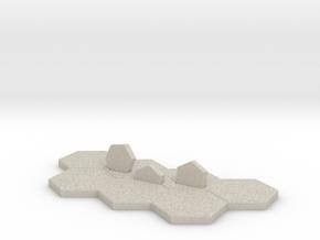 Hex-tile Card holder in Natural Sandstone