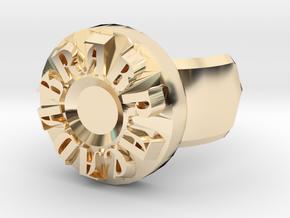 Abracadabra Ring in 14k Gold Plated Brass