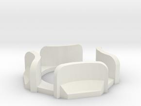 Fan operator Prongs in White Natural Versatile Plastic