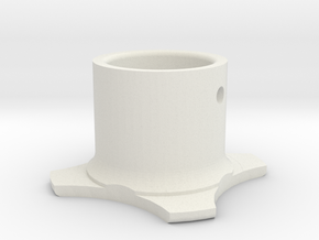 "7/8"" stem adaptor - piece 1 of 2 needed in White Natural Versatile Plastic"
