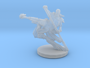 Martial Artist Flying Kick in Smooth Fine Detail Plastic