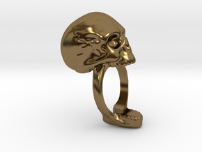 Skull Ring (size 12) 21,3mm in Polished Bronze