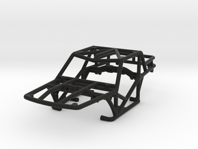 Specter-T v1 1/24th scale rock crawler chassis in Black Natural Versatile Plastic