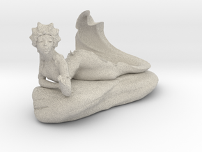 Mermaid Fountain in Natural Sandstone