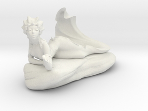 Mermaid Fountain in White Natural Versatile Plastic