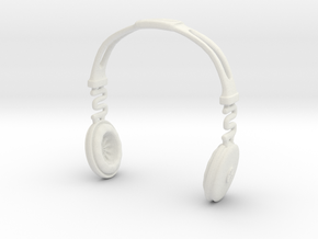 Headphones BOSS Version: BJD Doll YOSD 1/6 size in White Natural Versatile Plastic
