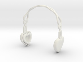 Headphones Heart Version: BJD Doll YOSD 1/6 in White Natural Versatile Plastic