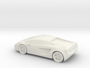Lamborghini Gallardo in White Natural Versatile Plastic