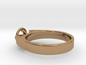 Design Ring For Diamond Ø17 Mm/0.669 inch  Model A in Polished Brass