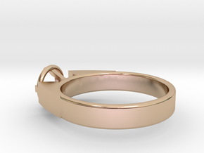 Design Ring For Diamond Ø17 Mm/0.669 inch  Model A in 14k Rose Gold Plated Brass