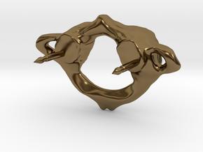 C1 Atlas Biker Pin in Polished Bronze