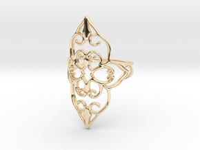 Bloom - size 6 in 14k Gold Plated Brass