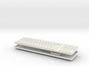 Apple IIgs - 1:3 Scale Keyboard And Mouse in White Strong & Flexible