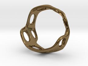 s3r025s8 GenusReticulum in Polished Bronze
