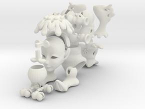 Iceling Fairy BJD tiny Doll in White Natural Versatile Plastic