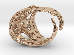 s4r012s9 GenusReticulum  in 14k Rose Gold Plated Brass