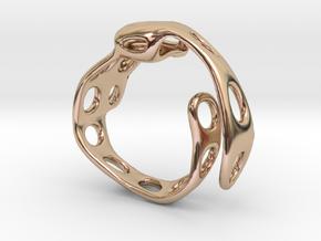 s4r020s7 GenusReticulum  in 14k Rose Gold Plated Brass