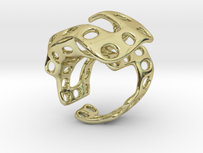 s4r018s7 GenusReticulum in 18k Gold Plated Brass