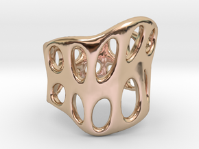 S3r031s8 GenusReticulum in 14k Rose Gold Plated Brass
