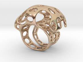 S4r016s8 GenusReticulum in 14k Rose Gold Plated Brass