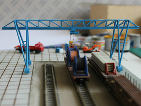 N Scale Gantry Crane 184mm in Smooth Fine Detail Plastic