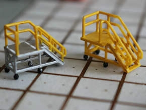 N Scale 3x Mobile Train Access Stairs in Smooth Fine Detail Plastic