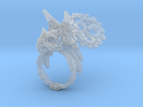 Tricera Ring (Size 8) in Smooth Fine Detail Plastic