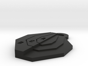 Ipsc Mini Target keychain in Black Natural Versatile Plastic