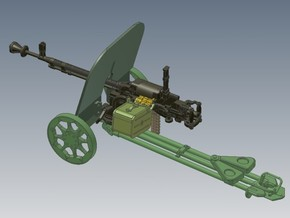 1-24 DSHK Dushka Wheeled Carriage in Frosted Ultra Detail